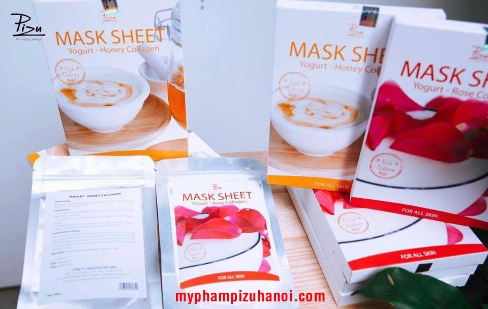 Mặt nạ sữa chua mật ong Pizu, Mask Sheet Yogurt - Honey Collagen