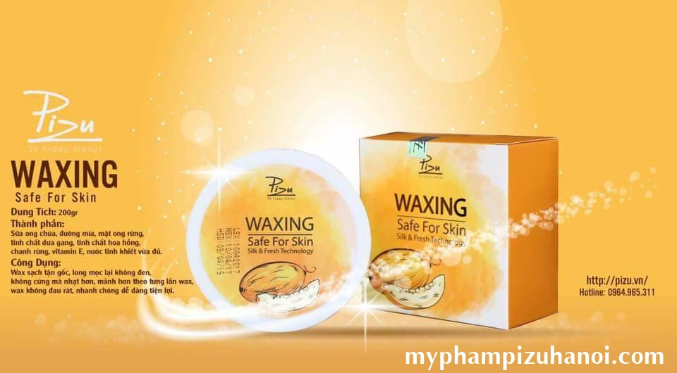 Waxing mật Dưa Gang Pizu - Waxing safe for skin