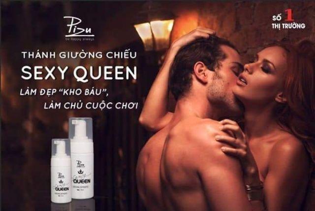Dung dịch vệ sinh Sexy Queen Pizu - Nữ hoàng giường chiếu